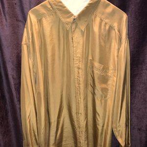 100% silk dress shirt